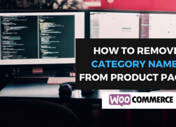 woocommerce product category removal